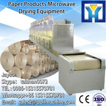 Continuous conveyor belt type microwave paper dryer